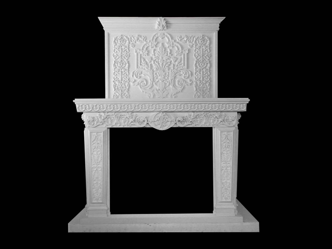 Camino Bianco In Pietra : Camino in pietra bianca caminetti artistici in pietra