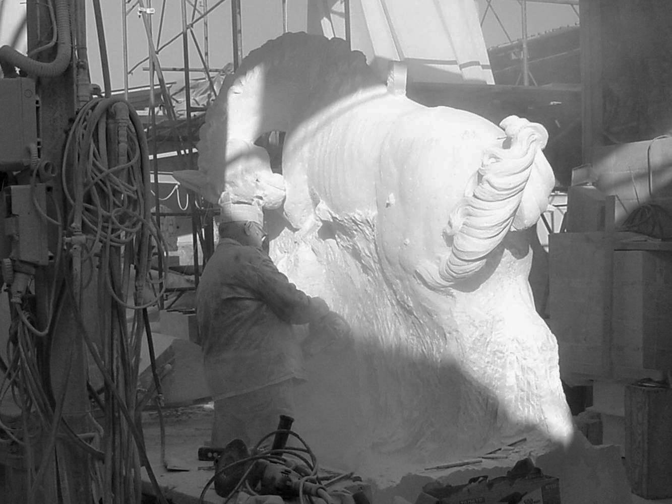 statua cavalli in marmo - scultura - 3