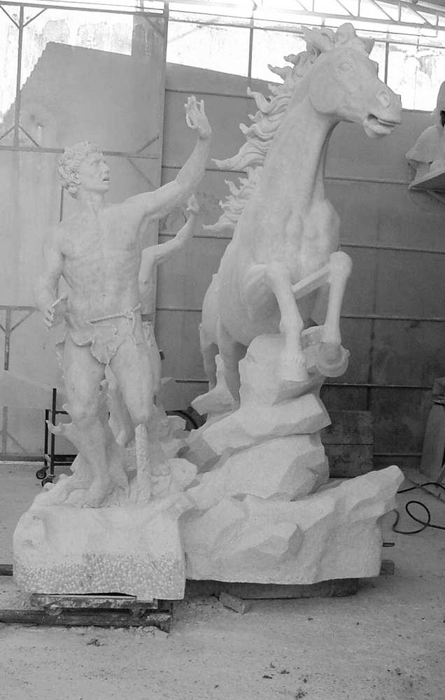 statua cavalli in marmo - scultura - 5