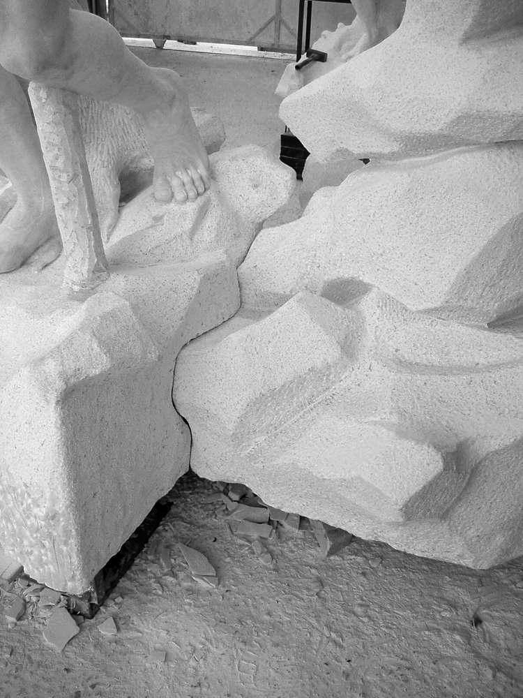 statua cavalli in marmo - scultura - 6