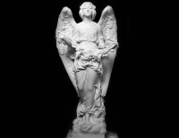 Full Relief Marble Statue of Angel - 4