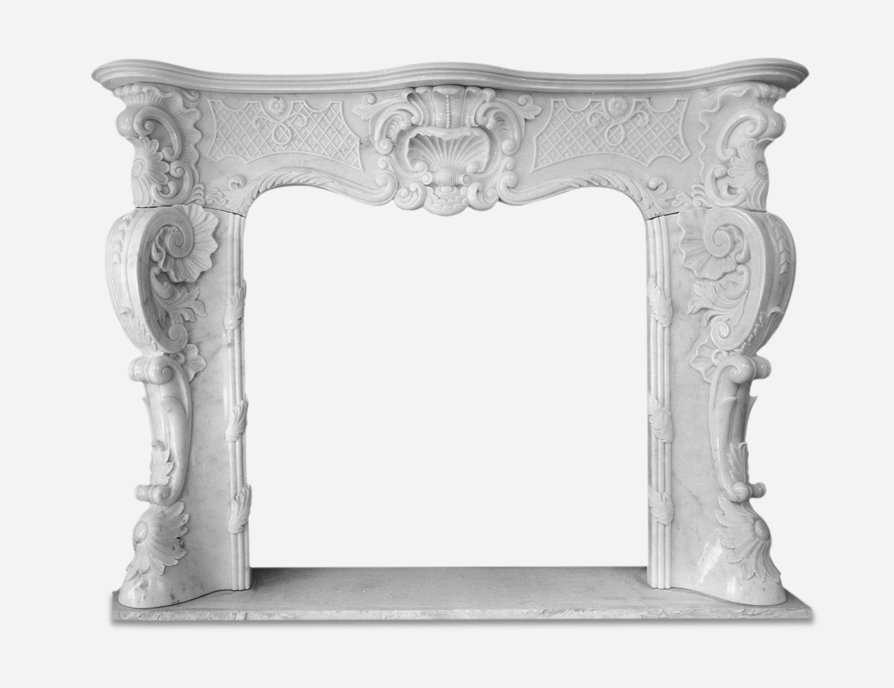 White Carrara Marble Fireplaces - 2