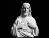 Full Relief Marble Statue of Christ - 1
