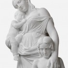 Classical Art - Marble Statue of woman with children