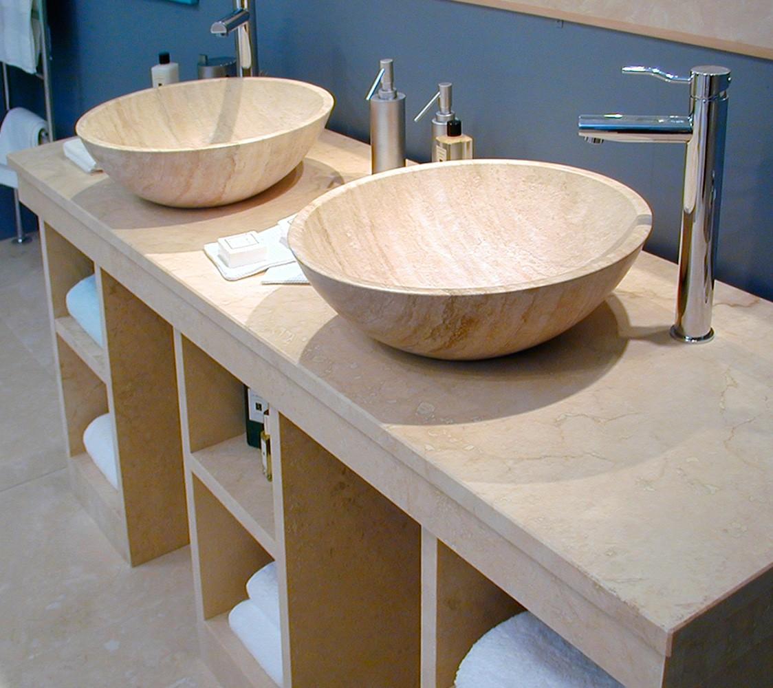 Architettura: Lavabi in Marmo e Pietra, Top Bagno. Piani Cucina
