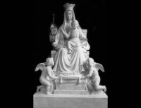 Full Relief Marble Statue of Madonna - 32