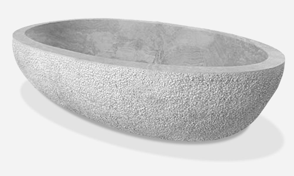 Vasca in massello di marmo 1