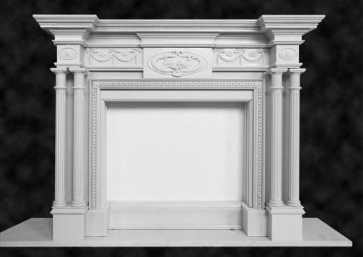 camino in marmo - architettura