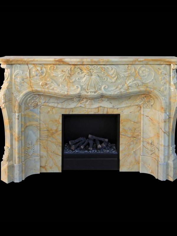 Giallo Siena Marble Fireplace, Yellow Marble - 1 thumb