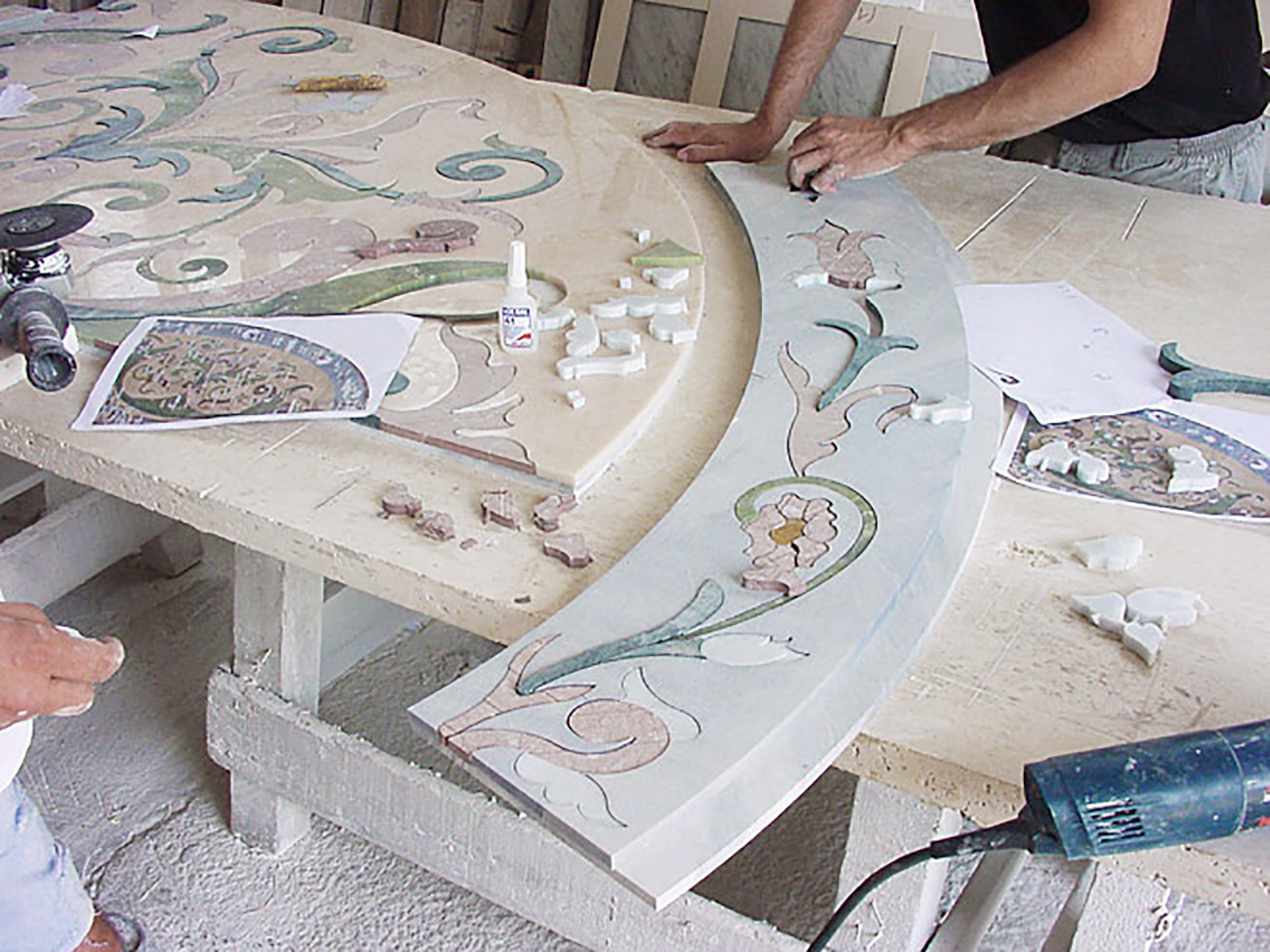 Marble Inlay - Services, Installation -6